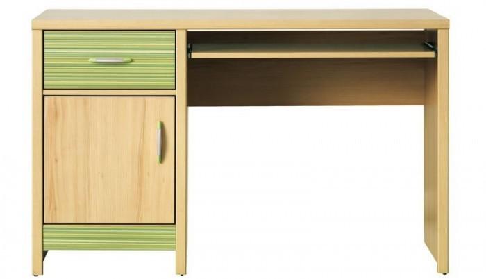 Dětský pracovní stůl Monza - pracovní stůl, CD 11 (višeň cornvall, zelená)