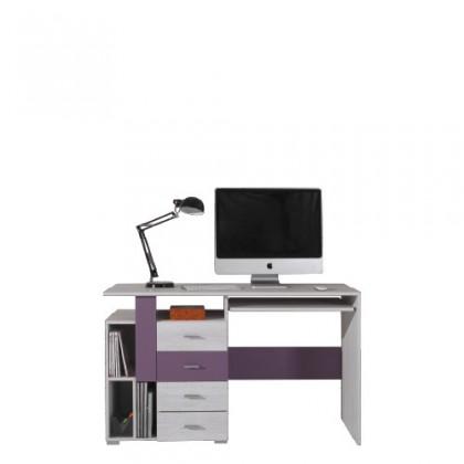 Dětský pracovní stůl NEXT NX 13 (borovice/fialová)