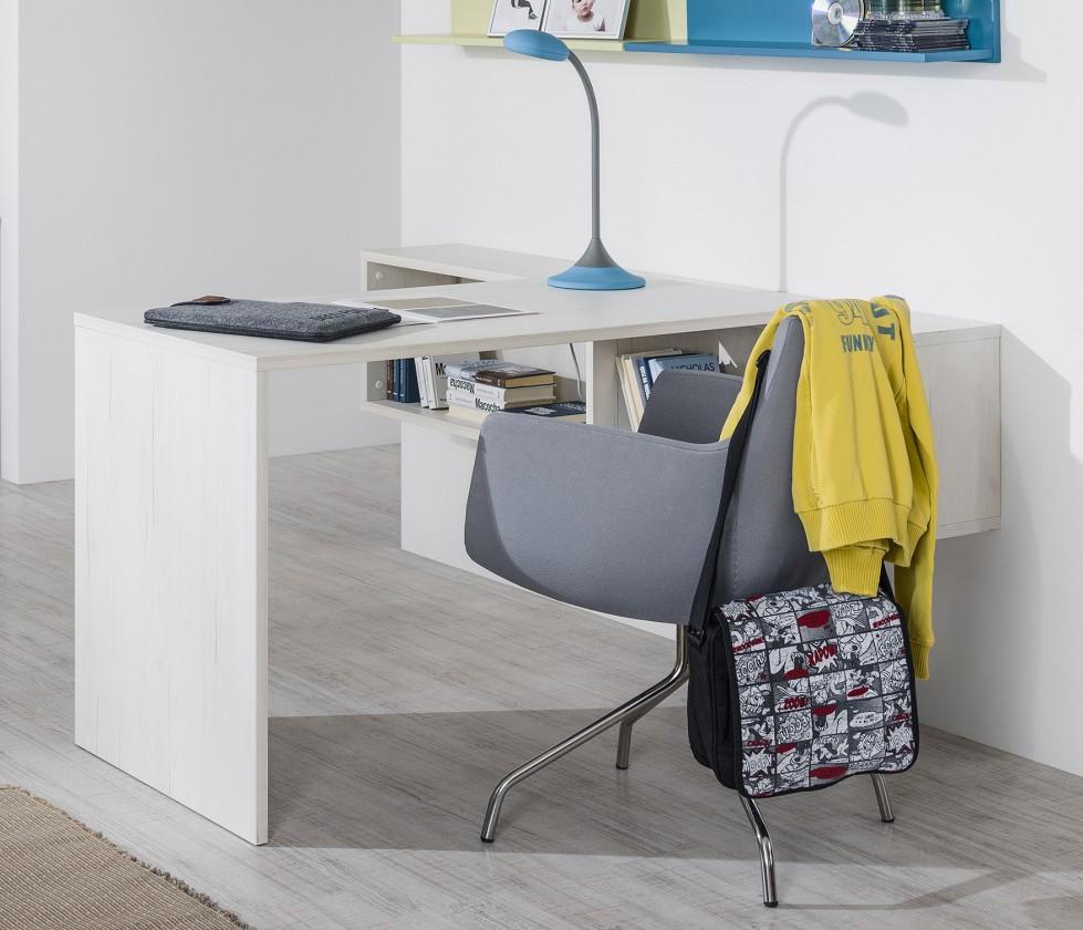 Dětský pracovní stůl Pine Aurélio - Přídavný dětský stůl (bílá)
