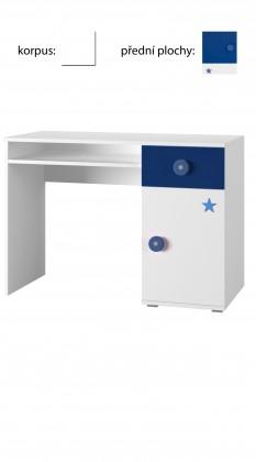 Dětský pracovní stůl Simba 13(korpus bílá/front bílá a modrá)
