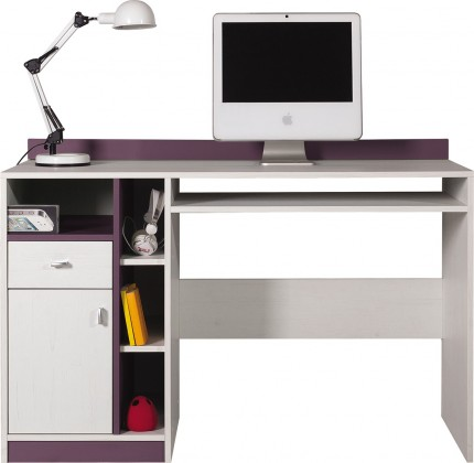 Dětský pracovní stůl Stone - Dětský pracovní stůl ST10 (bílá, fialová)