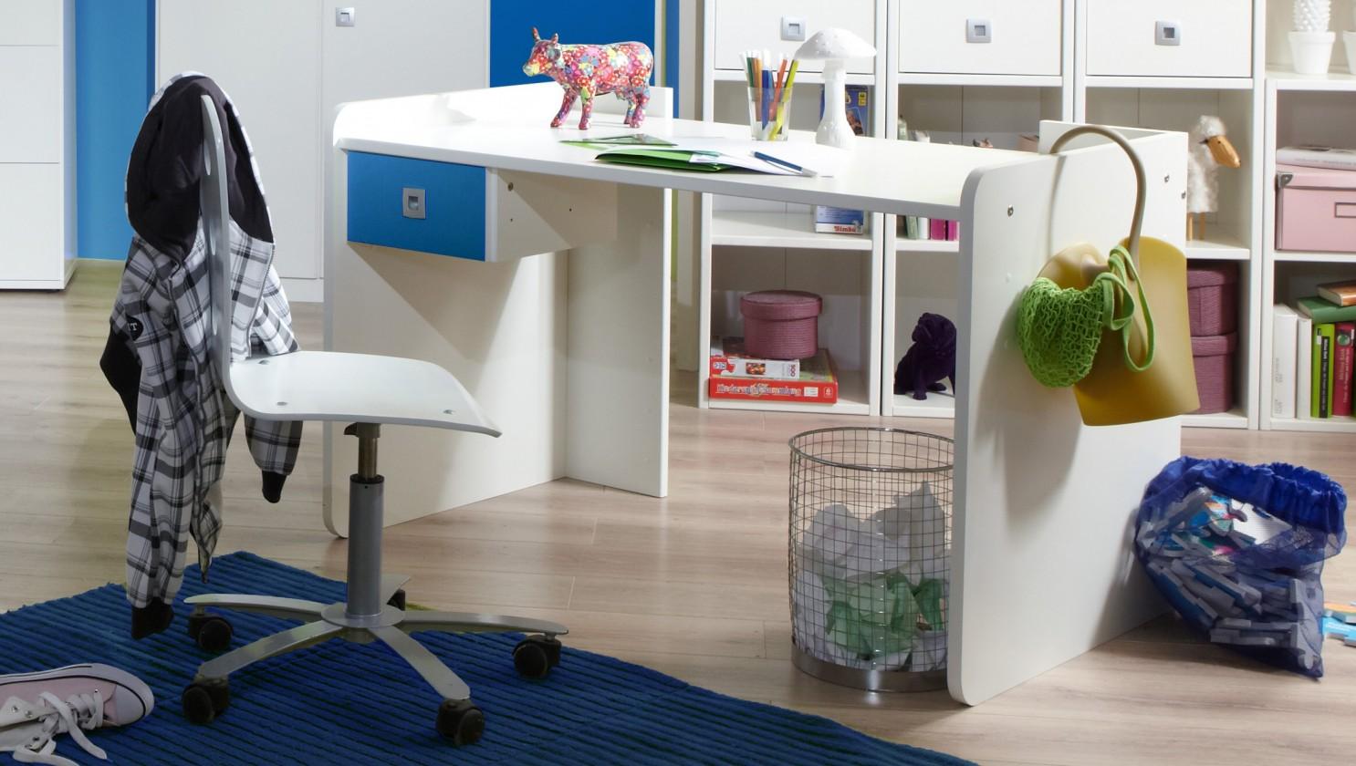 Dětský pracovní stůl Sunny - Pracovní stůl (alpská bílá s modrou)
