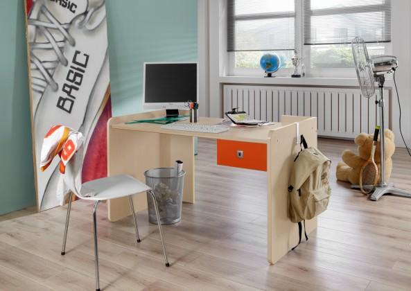 Dětský pracovní stůl Sunny - Pracovní stůl, dětský (červenooranžová)