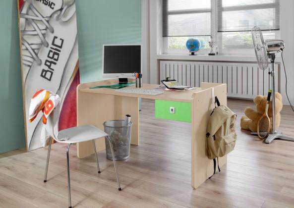 Dětský pracovní stůl Sunny - Pracovní stůl (zelené jablko/alpská bílá)