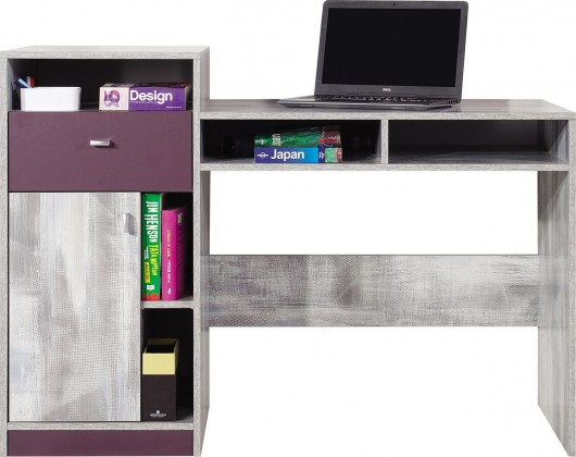 Dětský pracovní stůl Zoom - Dětský pracovní stůl ZM9 (antic, fialová)