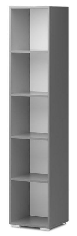 Dětský regál Diego 04 - Regál (přední strana bílá/šedé boky)