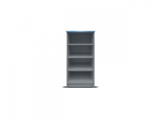 Dětský regál Junior mechanik - Regál (šedá/modrá, nízký)