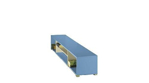 Dětský regál LABYRINT LA 21 (krémová/modrá)