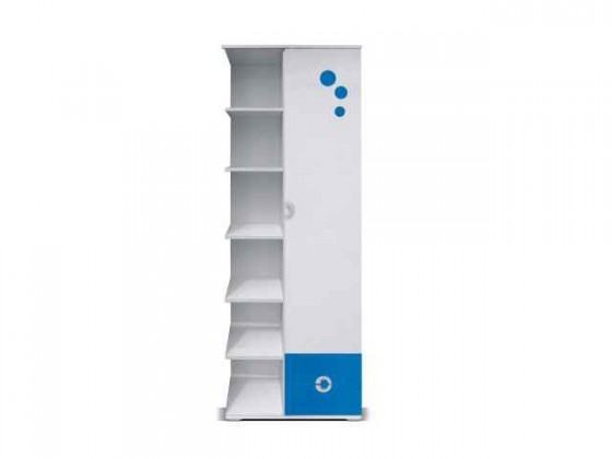 Dětský regál Manta - Regál levý 07 (modrá)