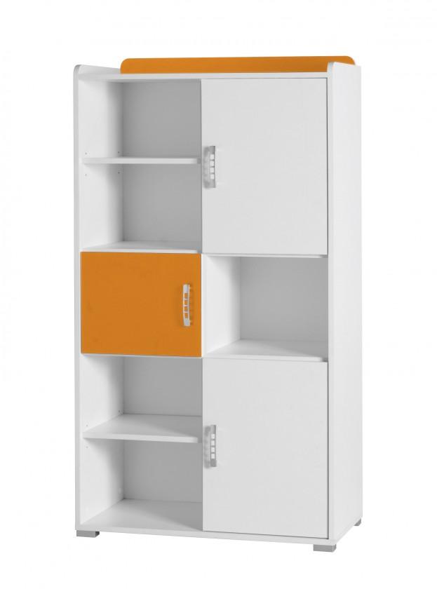 Dětský regál Nemo 4 (bílá/oranžová)