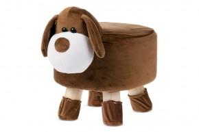 Dětský taburet Pes hnědá, bílá