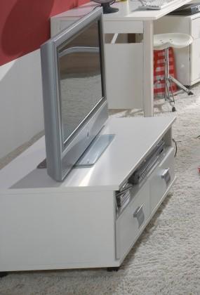 Dětský TV stolek Jette - 320409 (alpská bílá)