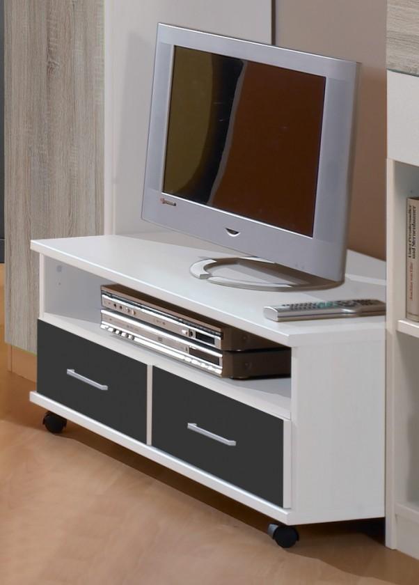 Dětský TV stolek Joker - TV stolek (bílá, antracit)