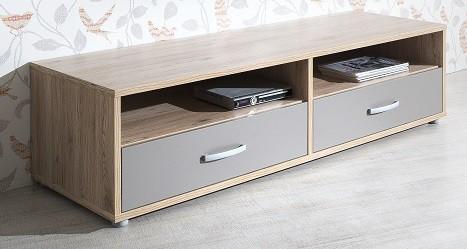 Dětský TV stolek Sand - TV stolek, typ 48 (dub, čedičová šedá)