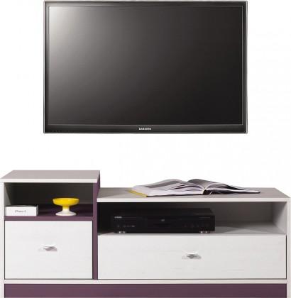 Dětský TV stolek Stone - TV stolek ST9 (bílá, fialová)
