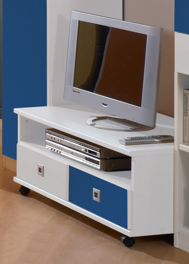 Dětský TV stolek Sunny - TV stolek (alpská bílá s modrou)