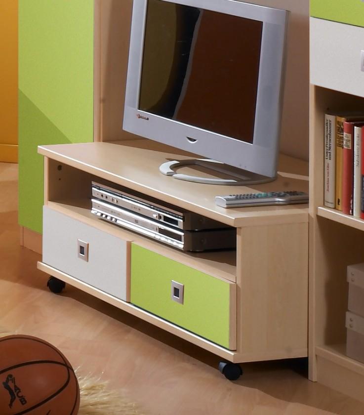 Dětský TV stolek Sunny - TV stolek (zelené jablko/alpská bílá)