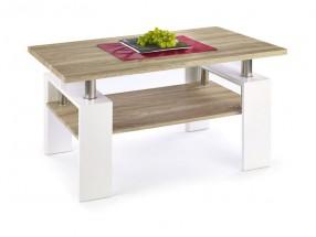 Diana - konferenční stolek (deska a police:dub sonoma/nohy:bílá)