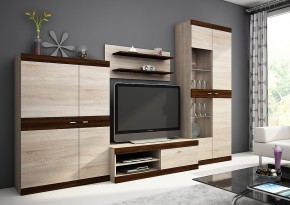 Dino I - obývací stěna, LED (sonoma/sonoma čokoládová)