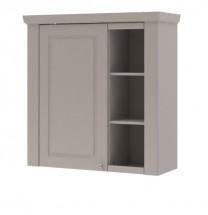 Domi - Skříňka závěsná levá, 1x dveře, 3x police (kašmír)