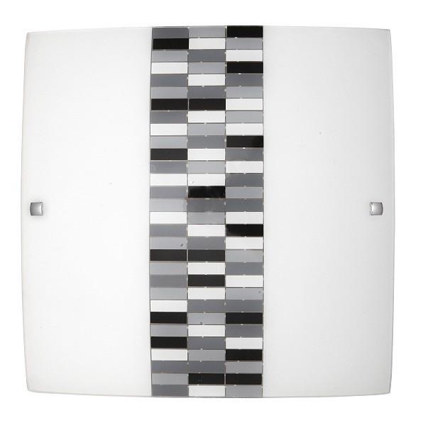 Domino - Nástěnná svítidla, E27 (opálové sklo/černá)