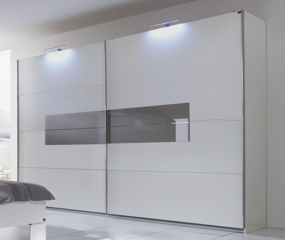 Doplněk Advantage - 2x LED světlo na skříň 200 cm (alpská bílá/šedá)