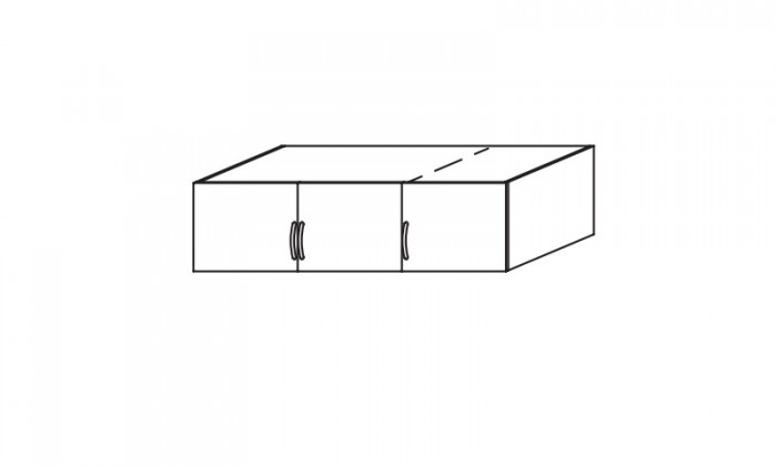 Doplněk Case – nástavec pro 3 dveřovou skříň