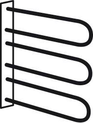 Doplněk Match Up - Věšák na opasky a kravaty (kov)