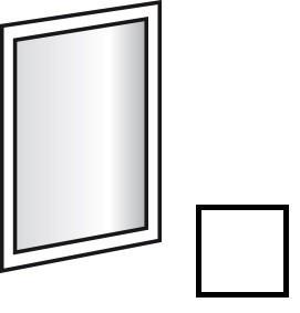 Doplněk Match Up - Zrcadlo závěsné, otočné (alpská bílá)
