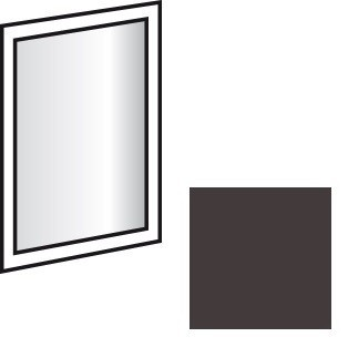 Doplněk Match Up - Zrcadlo závěsné, otočné (Lava)