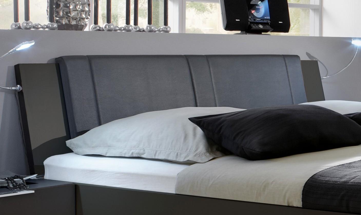 Doplněk Medina - Polstrované čelo na postel 160 cm (lava černá)