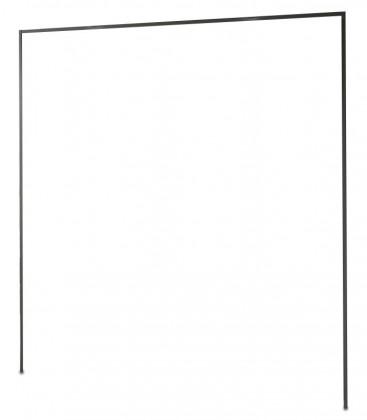 Doplněk Medina - Římsa na šatní skříň 200 cm (lava černá)