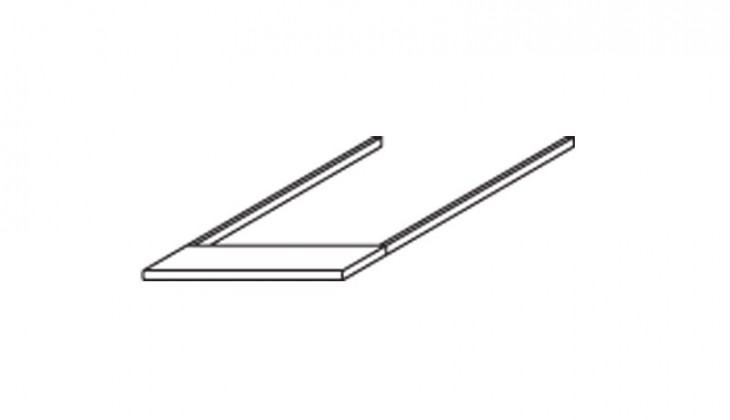 Doplněk Modena B - Římsa horní na skříň šířky 47 cm