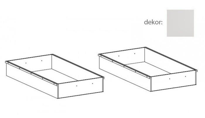 Doplněk Tampere - Úložný prostor 90 - 2 kusy (vanilka)