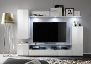 Dos - Obývací stěna (bílá mat/bílá lesk)