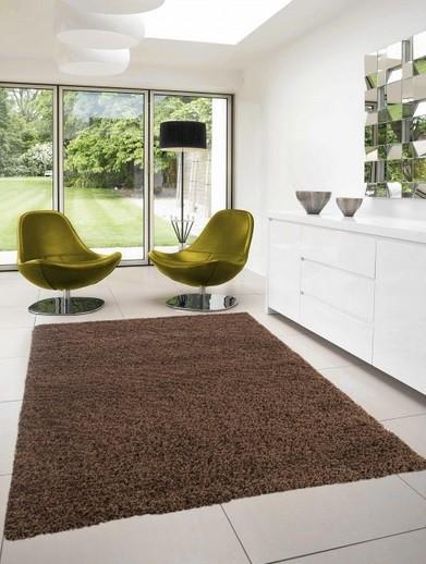 Dream Shaggy - koberec, 110x60cm (100%PP shaggy, hnědá)