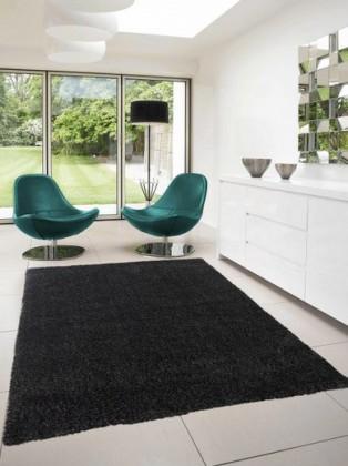 Dream Shaggy - koberec, 150x80cm (100%PP shaggy, černá)