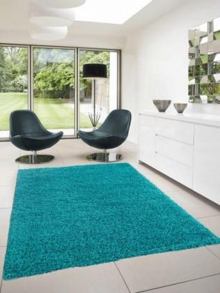 Dream Shaggy - koberec, 170x120cm (100%PP shaggy, tyrkysová)