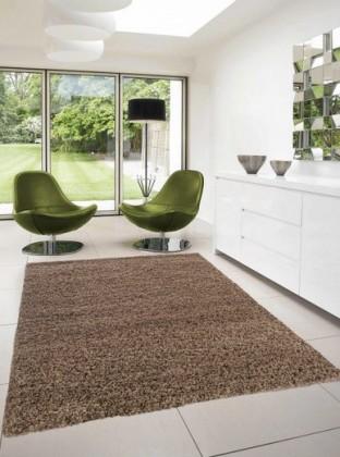 Dream Shaggy - koberec, 230x160cm (100%PP shaggy, světle hnědá)