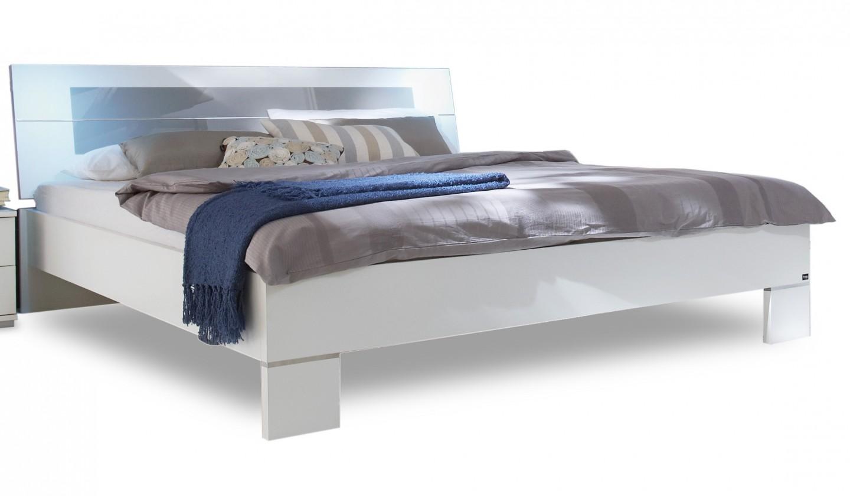 Dřevěná Advantage - Postel 160 cm (alpská bílá/šedá)