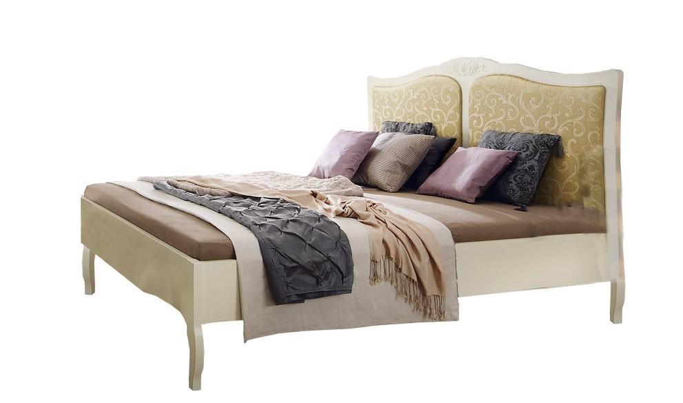 Dřevěná Anabella - postel 1800(matný lak/slonová kost)