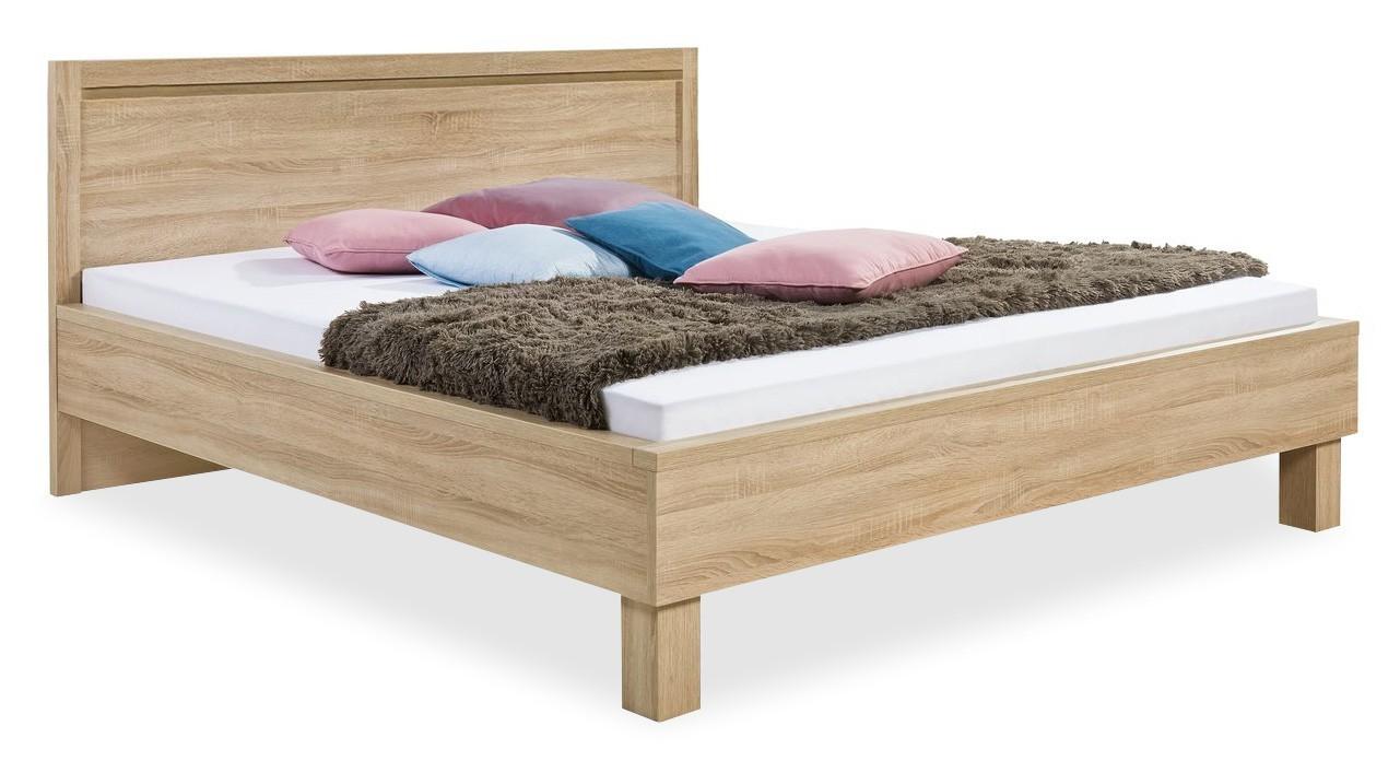 Dřevěná Cosmo - 200x160, dřevěné nohy (dub světlý)