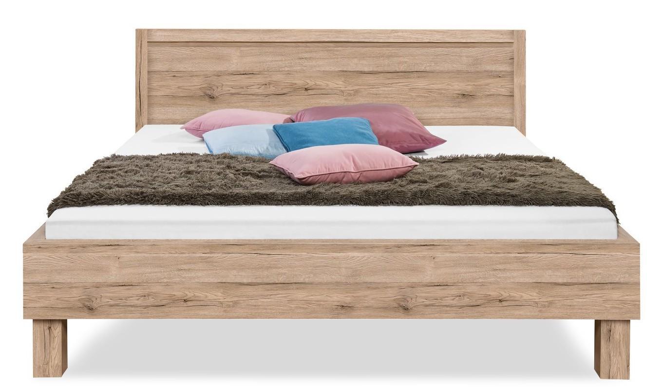 Dřevěná Cosmo - 200x180, dřevěné nohy (dub pískový)