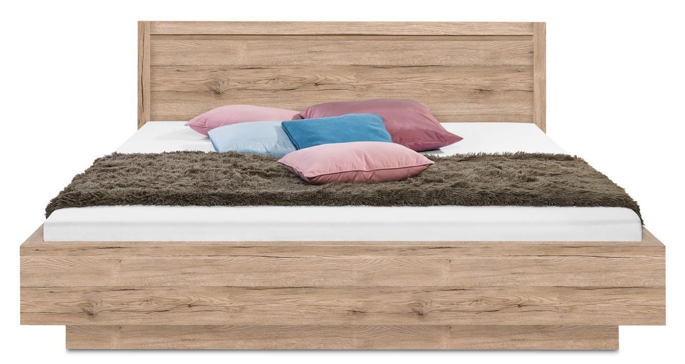 Dřevěná Cosmo - 200x180, příčný sokl (dub pískový)