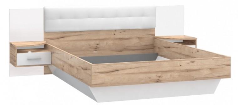 Dřevěná Dřevěná postel Corsica 160x200 cm, dub, bílá