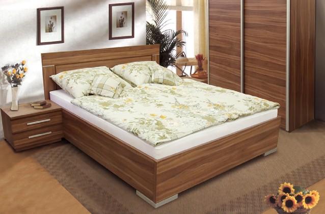 Dřevěná Dřevěná postel Dafne 2 180x200 cm, švestka, s úložným prostorem