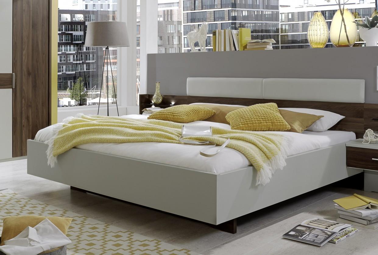 Dřevěná Dřevěná postel Imola 180x200 cm, champagne, nocce