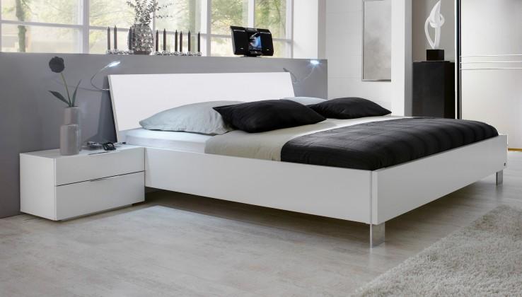 Dřevěná Dřevěná postel Medina 180x200 cm, bílá