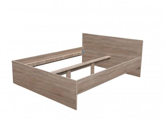Dřevěná Dřevěná postel Nikola I 160x200 cm, dub