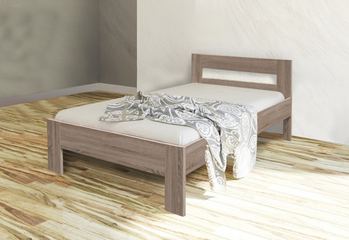 Dřevěná Dřevěná postel Nikola II 90x200 cm, dub